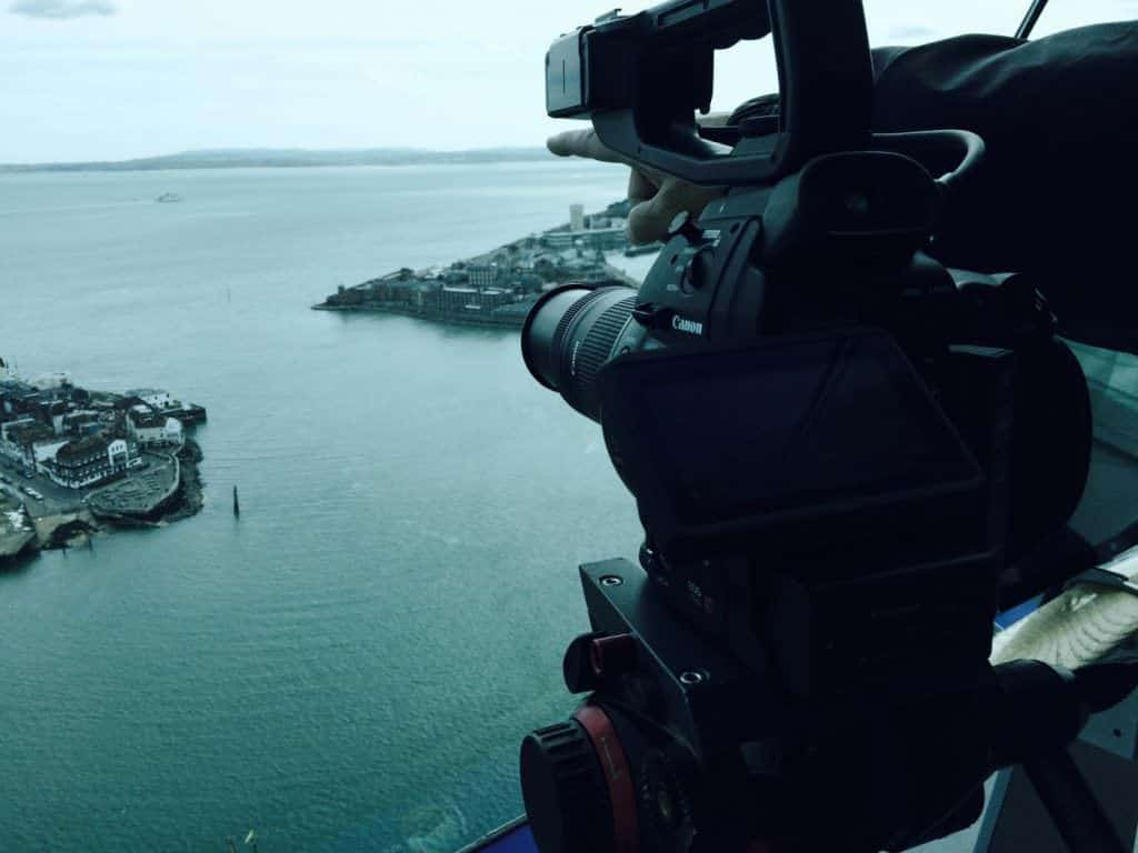 Filming in Portsmouth