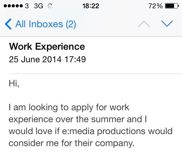 Job Enquiry Sample