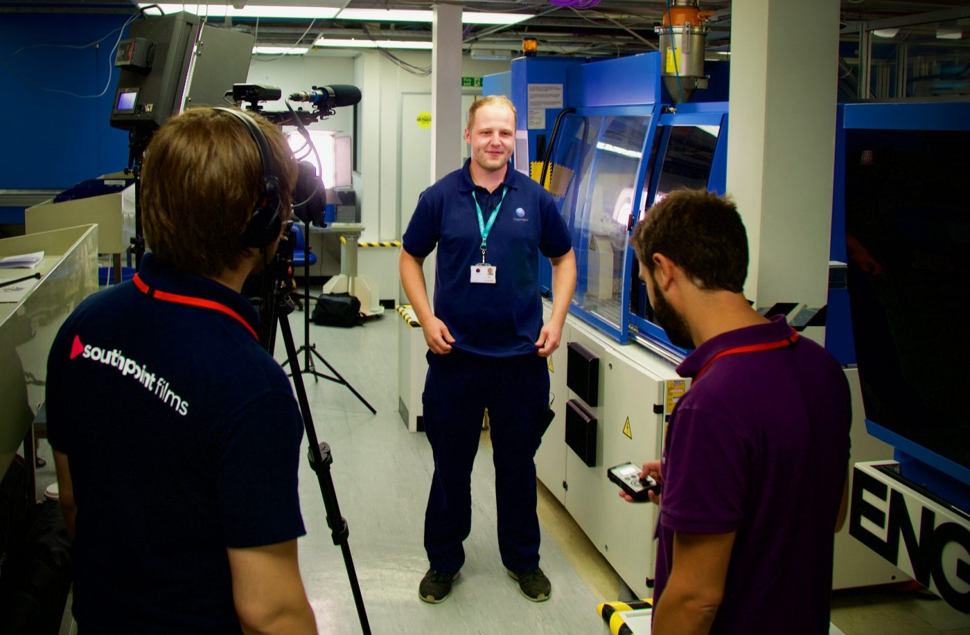 Behind The Scenes of the Fareham College Apprenticeships Promotional Video