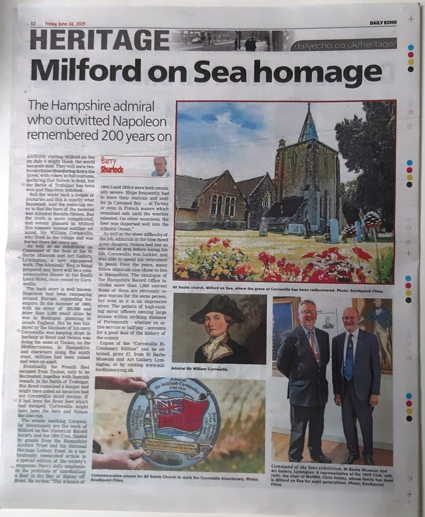 Southpoint Films's Cornwallis photos in the paper