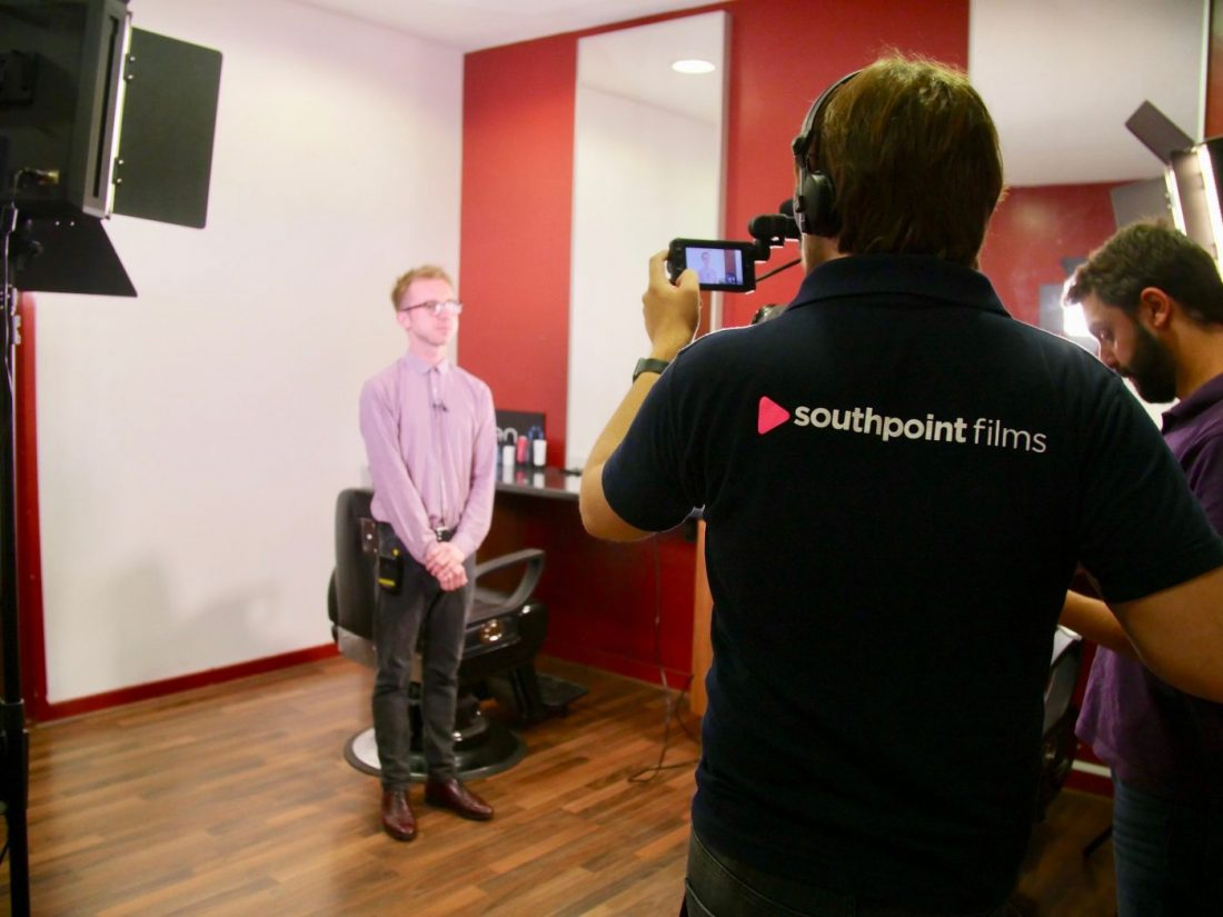 Filming with Fareham College