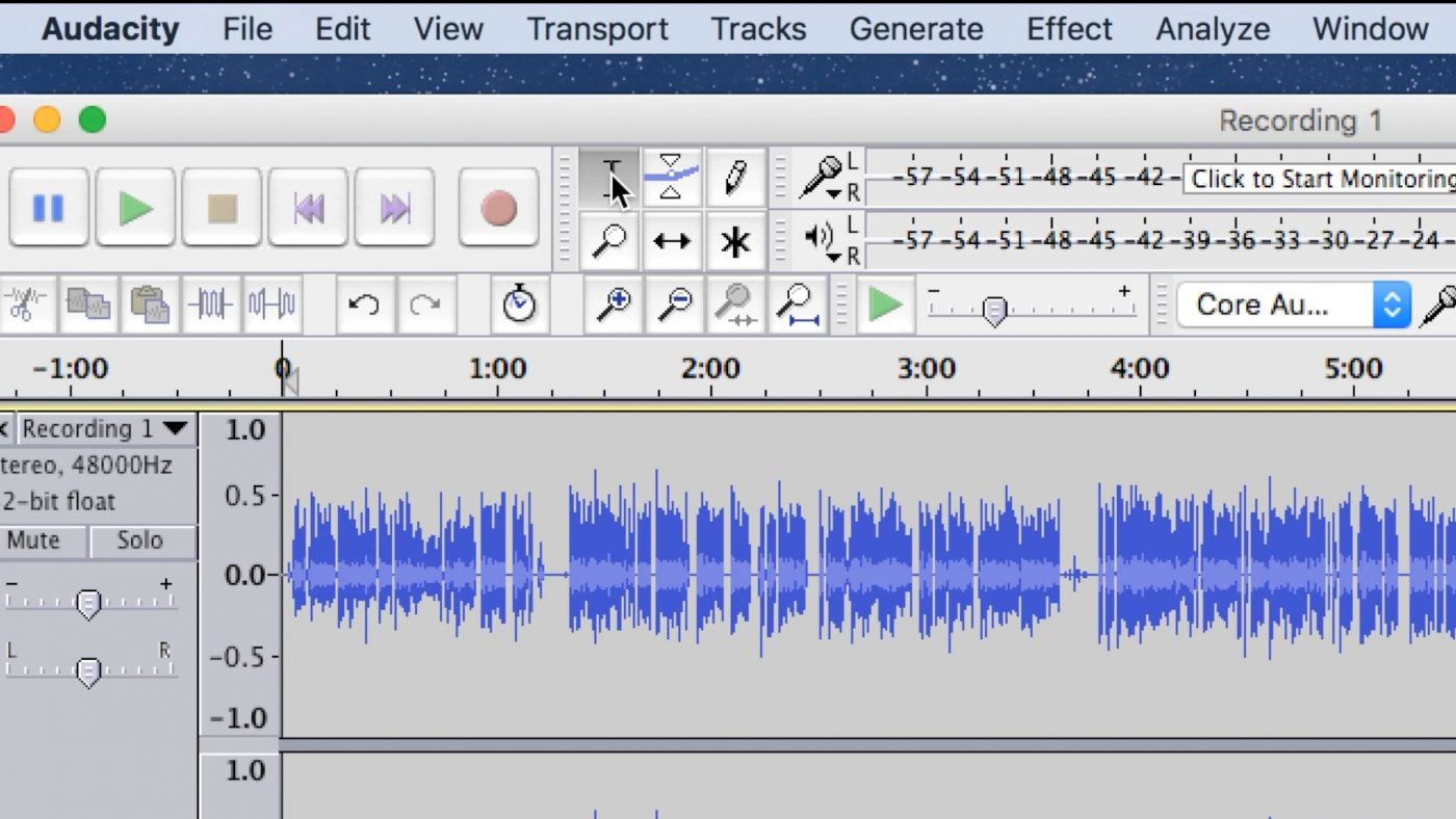 The Selection Tool In Audacity