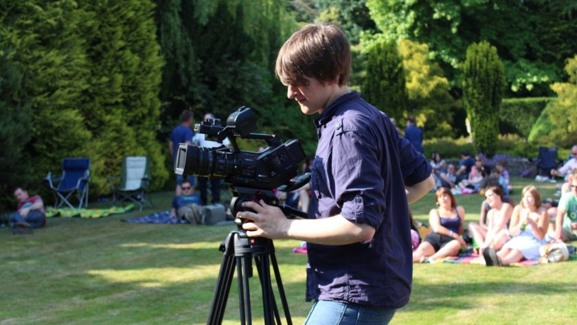 Filming at Bradfest 2013 - several months before Southpoint Films opened.