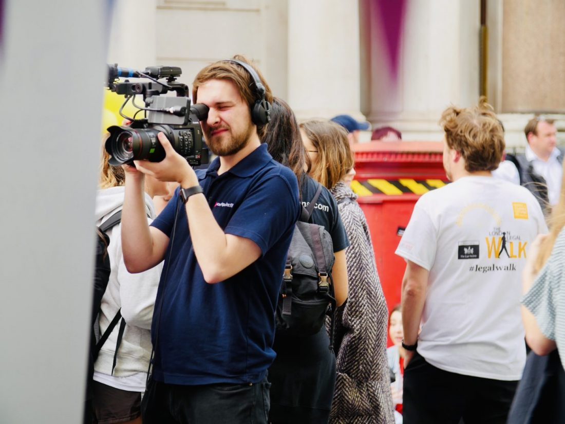 Filming the London Legal Walk