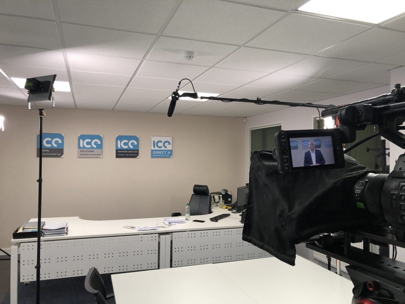 Filming a video presentation for ICE