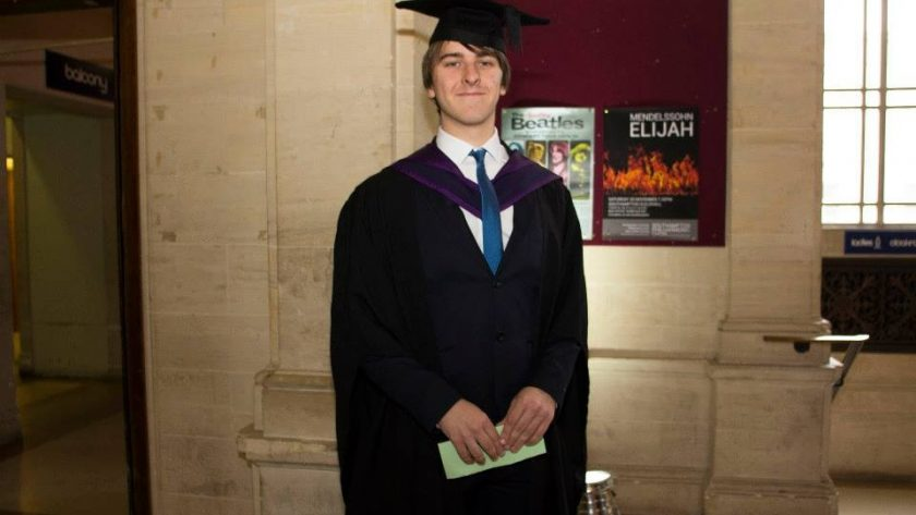 Southpoint Films Managing Director Rowan Johnson Graduating from Solent University in November 2013 During The Transition From Student TV To Corporate Video