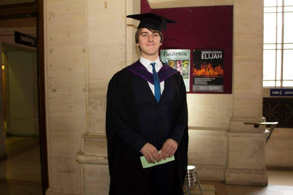Southpoint Films Managing Director and Former Student TV Station Manager Rowan Johnson Graduating from Solent University in November 2013 During The Transition From Student TV To Corporate Video
