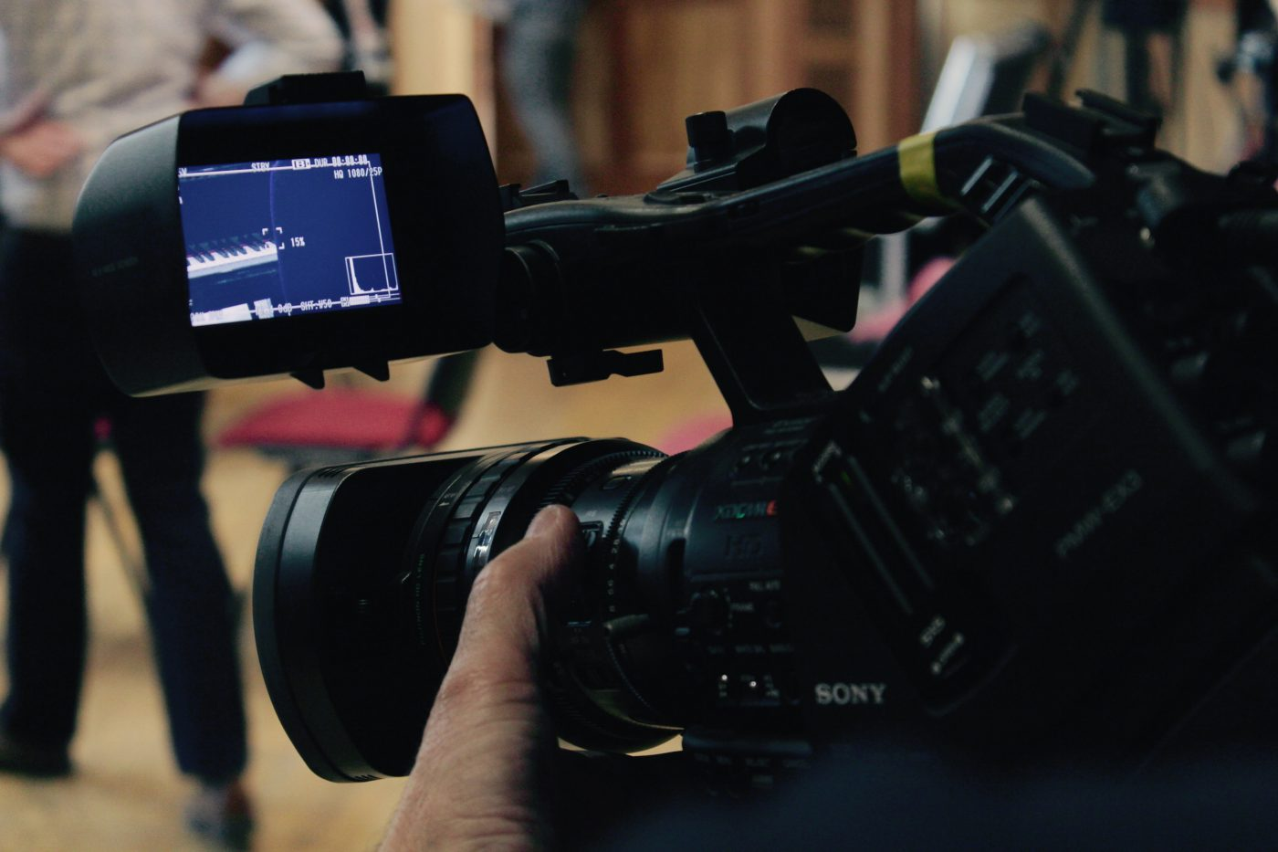 My Sony PMW-EX3 filming at the Royal College of Music