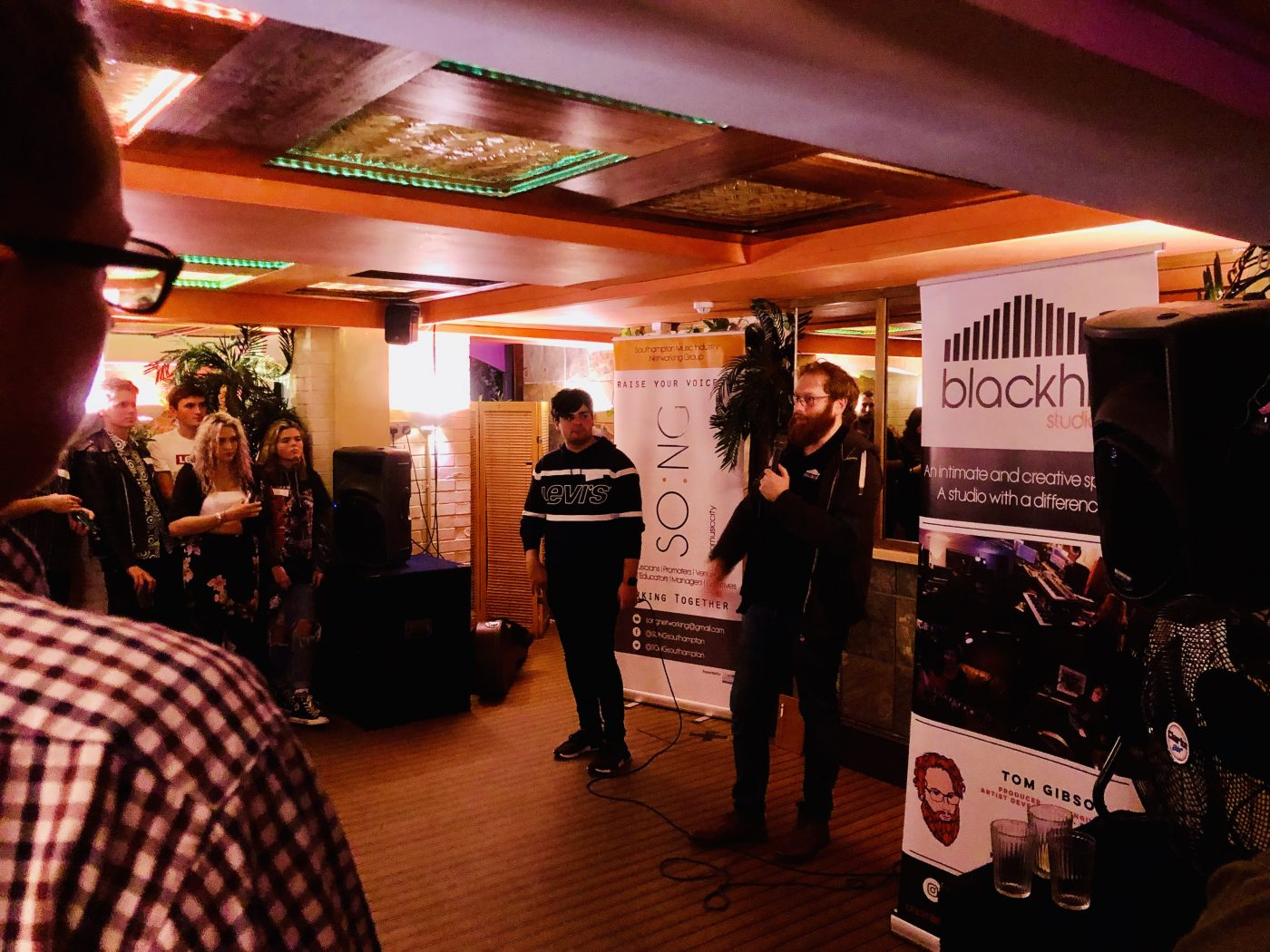 SO:NG – A networking event for musicians in Southampton, organised by Tom Gibson at Blackhill Studios