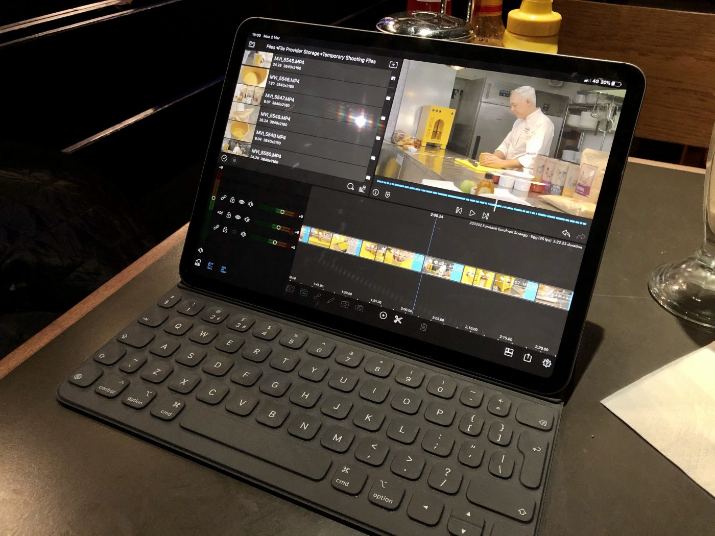Using an iPad (an iPad!!) to assemble rough cuts of a video earlier this year