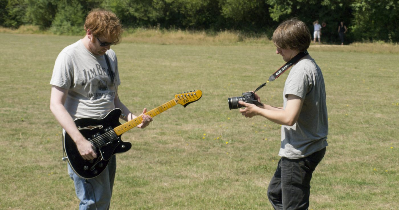 Filming A Music Video As Part Of The River Studios Development Programme