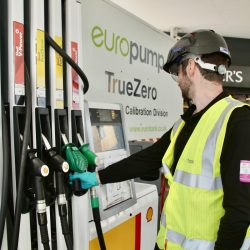 Kieron from Europump servicing a petrol pump with TrueZero