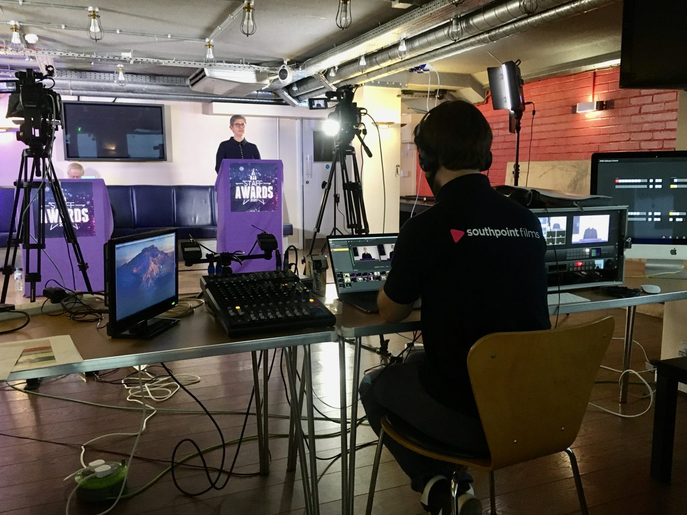 Streaming the HJA Virtual Staff Awards in London, 2020