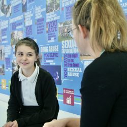 A student being mentored at Admiral Lord Nelson School