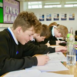 Students working in Maths at Admiral Lord Nelson School