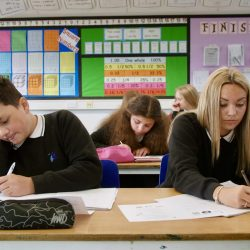 Students working in English at Admiral Lord Nelson School